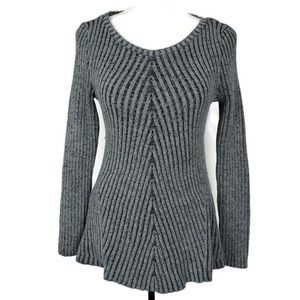 Style & Co Gray Ribbed Sweater Size Medium